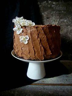 Chocolate Cake with Caramel, Sea Salt and Roasted Sesame Seeds Recipe