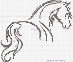 crossstitch horse black - Google Search