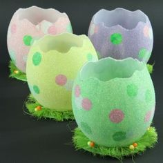 """6""""H EGG SHELL BEADED CONTAINER"""