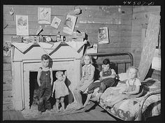 """Jack Delano shot this portrait, """"Children of a WPA (Work Projects Administration) worker's family near Siloam, Greene County, Georgia"""" in June 1941 [LC-USF34-044507-D]:    http://imagespublicdomain.wordpress.com/category/wpa/"""