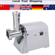 Electric Industrial Meat Grinder Mincer Sausage Maker Machine 3 Cutting Blades For Meat Processing Plants Kitchen Tools