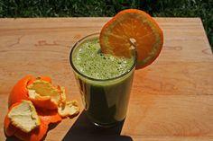 Tout Cru Dans Le Bec: Smoothie orange pissenlit, tout doux Guacamole, Cantaloupe, Health Fitness, Pudding, Orange, Ethnic Recipes, Food, Parmesan, Table