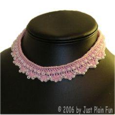 Beaded Shells Choker - A free Crochet pattern from jpfun.com.