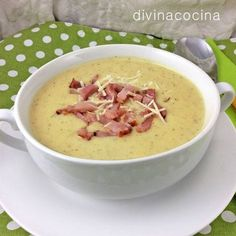 Crema de patata con cebolla y bacon < Divina Cocina