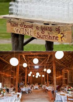 wine @ reception idea @Jessie Atherton, know you're getting married soon and appreciate wine.