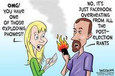 Landgren cartoon: Facebook rants