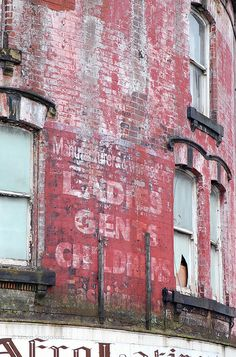 Roundhay Road ghost sign, Leeds