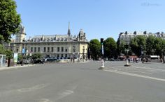 Standing at the Place Saint Michel square and looking out towards the various roads which meet there you can see the Police Judiciaire, sometimes known as just PJ for short which is a historical building in Paris.  Want to learn more? Go to www.eutouring.com Saints, Louvre, Street View, Paris, Building, Pj, Roads, Travel, Police