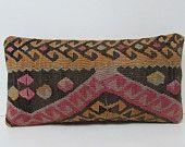 kilim pillow art furniture pillow lumbar garden pillow cover home accessory turkish pillow cover bohemian cushion cotton pillow cover 29281