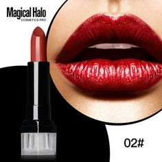 Magical Halo L.uxury Long Lasting Matte Lipstick Waterproof Batom Shimmer Velvet Lip Stick Nude Vampire Makeup Dark Purple Blue