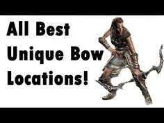 Skyrim - ALL Unique Bow - Locations (Best, secret) - YouTube - YouTube