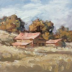 FALL LANDSCAPE OIL PAINTING by TOM BROWN.