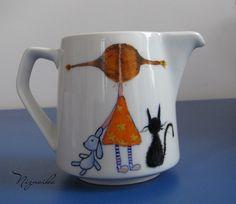 painted mug2 Pottery Painting Designs, Paint Designs, Paper, Tableware, Glass, Dinnerware, Drinkware, Tablewares, Corning Glass