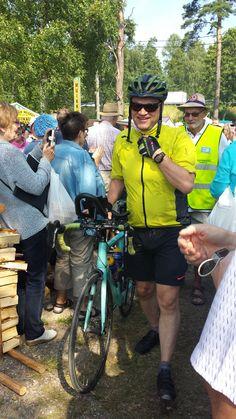 """The prime minister of Finland Juha Sipilä in Vääksy Finland """"Anianpellon markkinat"""", summer 2015 (photo Arja Keskitalo)"""