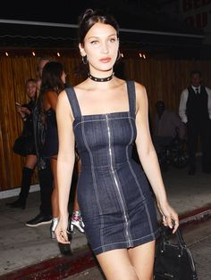 Bella Hadid Reminds Us Why We Secretly Love the '90s Club Look