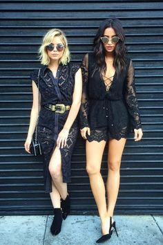 Shay Mitchell and Ashley Benson Wore Black Lace Outfits on Instagram | Teen Vogue