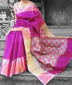 Stunning Dupion Silk Saree with Woven Patterns – India1001.com