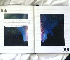galaxy, journal, journaling, midori, notebook
