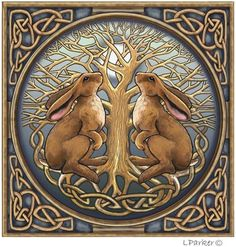 Image detail for -Celtic moon gazing hare card Pagan Wiccan Lisa Parker Lisa Parker, Year Of The Rabbit, Pagan Art, Rabbit Art, Art Sculpture, Bunny Art, Celtic Art, Celtic Designs, Wiccan