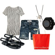 Black, Gray & Red-Orange on #polyvore