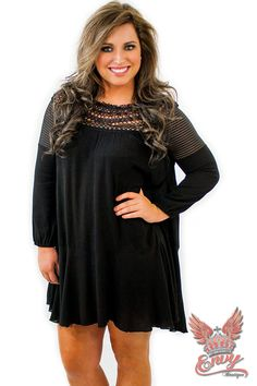 Midnight Swing Dress - $46.95 - The swing dress is back in popular demand, while out Midnight Swing Dress in the newer modern style, as it hugs the chest area and flows out, instead of hugging the waist.  | available at https://www.envyboutique.us/shop/midnight-swing-dress/ |  #Envy #Boutique #fashion #fashiontrends