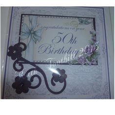 50th Birthday. Created on Craft Artist.