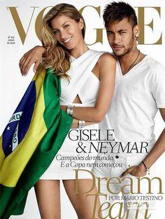 巴西天才前鋒內馬爾登封面 勾超模吉賽爾拍火辣寫真