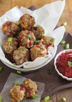 Cranberry Cheddar Sausage Bites | runningtothekitchen.com