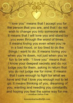 """Numerous Messages Behind """"I Love You"""""""