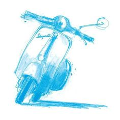 Vespa always seem to inspire artists. Maybe it's the design.or the emotion that Vespa brings to people.in any case, we think it's awesome! Vespa Gtv, Piaggio Vespa, Lambretta Scooter, Scooter Motorcycle, Vespa Scooters, Vespa Images, Vespa Illustration, Classic Vespa, Motor Scooters