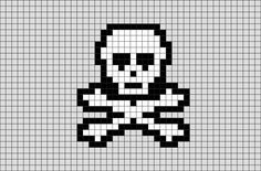 Skull Pixel Art from BrikBook.com #Skull #bone #skeleton #Head #pixel #pixelart #8bit Shop more designs at http://www.brikbook.com
