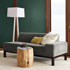 WestElm - Bring the outdoors in with the rustic Natural Tree Stump Side Table. Made from naturally fallen cypress trees, each solid-wood table is one of a kind. Cluster two or three together to create a unique coffee table, or use them individually beside a sofa, bed or chair.      • Solid cypress wood. , $199