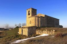 Oquillas, provincia de Burgos - Panorámica de la iglesia románica de San Cipriano, Románico del Esgueva