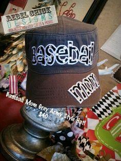 Baseball Mom Hat Rebel Chick Designs