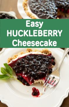 Need a simple, homemade dessert that tastes amazing? All the flavor of cheesecake, none of the hassle. The crust alone is sensational – rich, buttery, chunks of toasted crumbs and nuts. Then you fill it up with this amazing fluffy cheesecake filling that Homemade Desserts, Dessert Recipes, Cake Recipes, Frosting Recipes, Easy Desserts, Huckleberry Cheesecake, Huckleberry Desserts, Fluffy Cheesecake, Blueberry Cheesecake