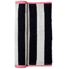Cotton rug black and white by BLOOMINGVILLE