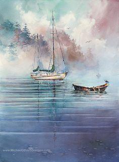 Sailboat Painting Limited Edition Prints. by MichaelDavidSorensen, $195.00