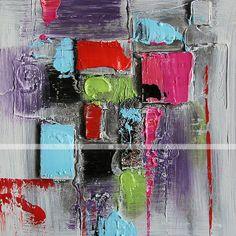 pintura al óleo moderna abstracta pintada a mano con juego de marco estirado de 3 - MXN $ 3,305.74