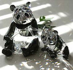 Swarovski Crystal Figurines   SWAROVSKI-CRYSTAL-PERFECT-PANDAS-SCS-ANNUAL-EDITION-2008-FIGURINES ...