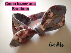 como hacer una bandana o diadema de lazo Baby Girl Accessories, Sewing Accessories, Sewing For Kids, Baby Sewing, Make Baby Headbands, Sewing Patterns, Crochet Patterns, Head Band, Baby Quilts