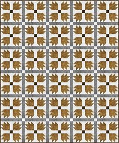 Grizzly Bear Paw Quilt   Create a gorgeous rustic quilt this fall with this traditional bear paw tutorial!