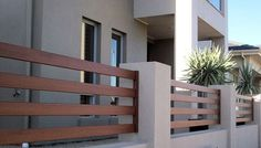 Creative Lightweight Solution Rendered Walling, Fencing | Townhouse Projects Adelaide Front Wall Design, House Fence Design, Fence Gate Design, Modern Fence Design, Door Design, Exterior Design, Modern Gates, Balcony Grill Design, Balcony Railing Design