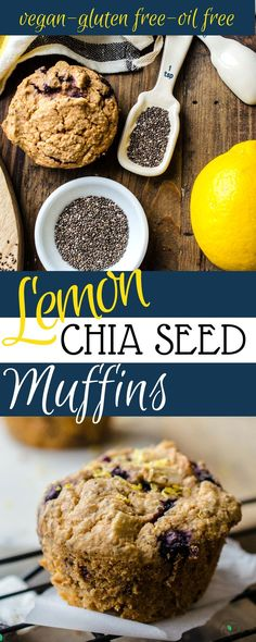 Healthy Gluten Free Vegan Muffins! Lemon Chia Seed Muffins!Plant based recipes!