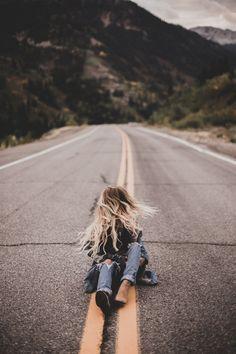 Senior pictures on road. Road senior pictures. #streetseniorpictures #seniorpicturesonaroad #seniorpictureideasforgirls