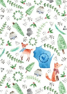 "Carrie Chapko, ""Wisconsin Christmas"" design"""