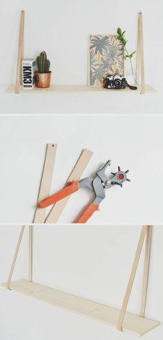 Anleitung, wie Sie ein frei hängendes Wandregal selber bauen können