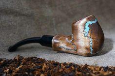 Mini Smoking pipe Lightningwith Turquoise