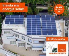 Sustentabilidade Energética Solar Termosolar e Eólica : Energia Fotovoltaica Solar 24 kW Energia Pura