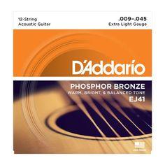 D'Addario EJ41 12-String Phosphor Bronze, Extra Light, 9-45