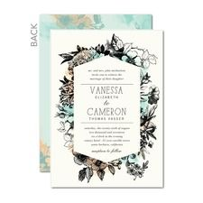 Romantic Wreath Wedding Cards